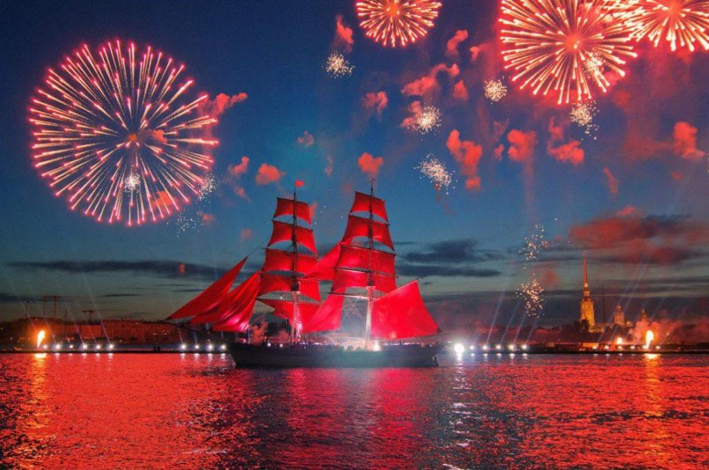 Светопиротехническое шоу на праздник Алые паруса